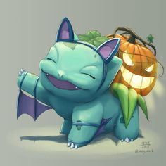 """bulbasaur-propaganda: """" ace-pervert: """" butt-berry: """" butt-berry: """" butt-berry: """" Ready to trick-or-treat """" Update: """" It's Halloween again, and this year he's going as. Bulbasaur Pokemon, O Pokemon, Pokemon Fan Art, Pikachu, Pokemon Red Blue, Anime Halloween, Cool Pokemon Wallpapers, Cute Pokemon Wallpaper, Cute Pokemon Pictures"""