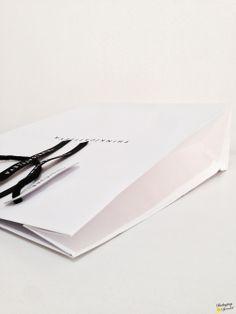 luxury paper bag w/custom ribbon | by #PKGSP #packaging specialist