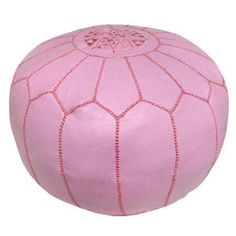 Moroccan Pouf in Pink - too cute!