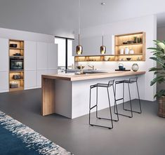 kitchen design ideas A modern kitchen layout means different thing to different men and women. For a few it is that a clean fearless appearance, for many others it entails easy lin Home Decor Kitchen, New Kitchen, Home Kitchens, Kitchen Ideas, Kitchen Modern, Luxury Kitchens, Modern Farmhouse, Modern Kitchen Renovation, Neutral Kitchen