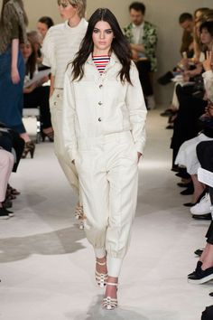 Kendall Jenner ivory jump suit