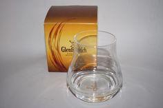 New Glenfiddich Single Malt Scotch Whisky Glass Clear Deer Logo Made in Spain