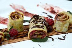 Clatite cu finetti si zmeura - CAIETUL CU RETETE Sushi, Gem, Ethnic Recipes, Food, Essen, Jewels, Meals, Gemstone, Gemstones