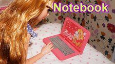 Como fazer um notebook computador para boneca Barbie, Monster High, Froz...