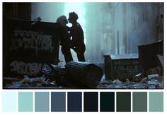 Sid and Nancy, Alex Cox. (1986) | 29 Escenas iconicas de películas reducidas a una paleta de color