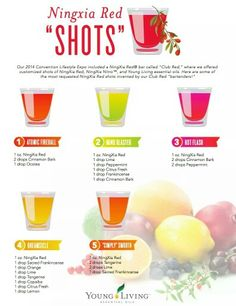 NingXia Red Shot Recipes