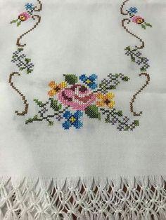 The most beautiful cross-stitch pattern - Knitting, Crochet Love Cross Stitch Beginner, Easy Cross Stitch Patterns, Cross Stitch Borders, Cross Stitch Samplers, Cross Stitch Flowers, Cross Stitching, Cross Stitch Letters, Cross Stitch Heart, Simple Cross Stitch