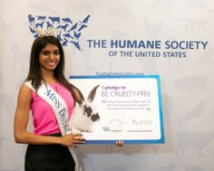 """I don't believe that animals should suffer for the sake of physical beauty. I want to work with the industry from the inside and leave a cruelty-free legacy with the Miss America Pageant."" – Bindhu Pamarthi, Miss DC 2013 #BeCrueltyFree"