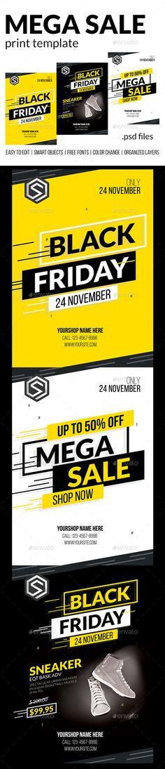 #Mega #Sale - #Commerce #Flyers. A modern and professional Printing template for any kind of business. The Template easy to edit. All text and colors are easily editable.