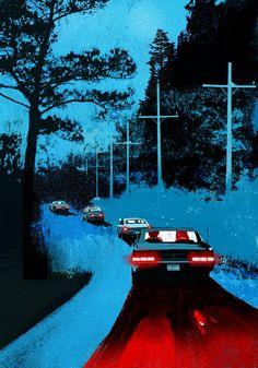 vaporwave car Muscle cars and couples, illustrations by Oriol Vidal Paar Illustration, Couple Illustration, Graphic Illustration, Graphic Art, Graphic Design, Retro Kunst, Bd Art, Poster Design, Foto Art