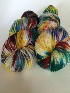 Hand Dyed Yarn Ultra Soft Merino Superwash Yellow by HauteKnitYarn