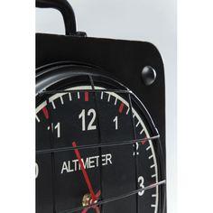 Ρολόι επιτραπέζιο Altimeter Square Trendy μεταλλικό ρολόι σε μαύρο χρώμα. Just For Men