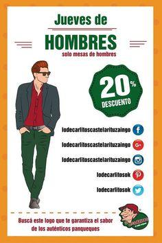 Jueves de Hombres en Lo de Carlitos Castelar / Ituzaingo!! Los esperamos en Santa Rosa y Sarmiento