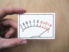 Made by Marianne Lock / Logo for audiovisual technician / Logo / Handwritten / Typography