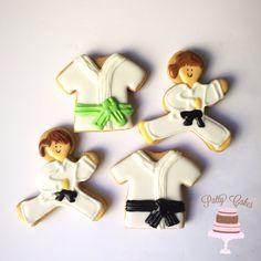 Martial arts cookies www.facebook.com/PattyCakesBakes