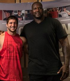 Tim Tebow and Shaq.  Manly Men!