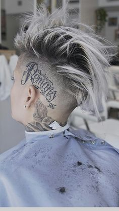 11 Awesome Man Bun Hairstyles With a Fade for 2019 - Style My Hairs 10 Tattoo, Scalp Tattoo, Mens Hair Colour, Hair Color, Hair And Beard Styles, Short Hair Styles, Man Bun Hairstyles, Hair Reference, Hair Tattoos