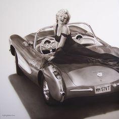 "Marilyn Monroe ""57 Vette - by Keith Nelson"