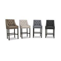 Alexa Premium Linen Barstool | Overstock.com Shopping - The Best Deals on Bar Stools