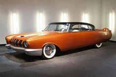 1955 Mercury D-528 Beldone concept car, Petersen Automotive Museum, stylish retro futuristic streamlined show car