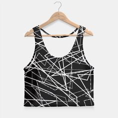 Modern Black & White Lines Crop Top, Live Heroes Black And White Lines, Athletic Tank Tops, Crop Tops, Hoodies, Live, Stylish, Modern, Sweaters, Shopping