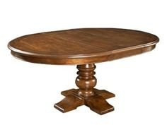 Shop for Broyhill Creswell Round Table, 4818 ROUND TABLE, and other Dining Room Dining Tables at Goods Furniture in Kewanee, IL. Available with all-cherry finish as well as with cherry-finished top and antiqued-white base. Table expands to 72'' with one 18'' leaf.