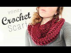 Crochet Infinity Scarf // Crochet Beginner // Veronica Marie - YouTube