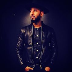 Swizz Beatz Wears BALR Black Leather Bomber Jacket