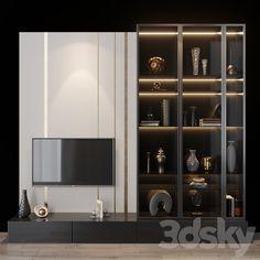Living Tv, Ikea Living Room, Modern Living, Minimalist Living, Living Rooms, Modern Tv Cabinet, Wardrobe Tv, Wardrobe Design, Modern Wardrobe
