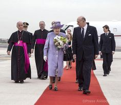 The Queen arrives in Rome 3rd April 2014