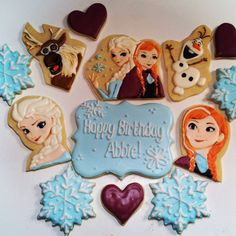 Roll Cookies, Cookies For Kids, Sweet Cookies, Cut Out Cookies, Sugar Cookies, Frozen Cupcakes, Frozen Cookies, Frozen Cake, Frozen Birthday Party