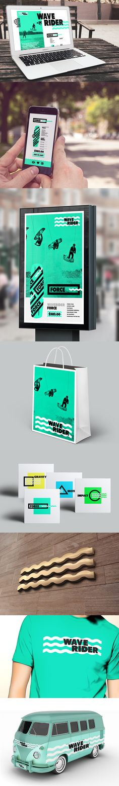 WAVERIDER // Branding by Jonathan Quintin, via Behance