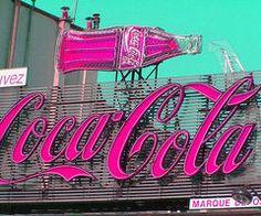 Pink Coca Cola sign.  #pink #color #colours