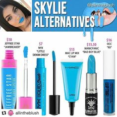 #SKYLIE Alternatives are here!! #allintheblush #makeupslaves #trendmood #vegas_nay #makeup #beauty #hudabeauty #slave2beauty #insta_makeup #norvina #glamrezy #amrezy #makeupartist #motd #mua #makeupaddict #wakeupandmakeup #kyliejenner #kyliecosmetics #kylielipkit #dupethat #makeupdupes