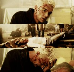 Spike cries for Buffy, probably one of the most sad moments in Buffy history.. Buffy, Crying, In This Moment, Angels
