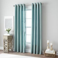 product image for Botanical Grommet Top Window Curtain Panel