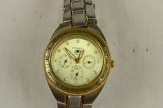 Vintage Quartz Watch - Fossil Blue Tachymeter Chrono ~ Parts/Repair #Fossil
