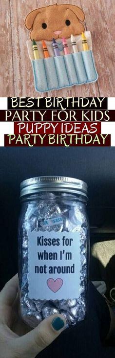 Best Birthday Party For Kids Puppy 55 Ideas Best Birthday Party For Kids Puppy Ideas Party Birthday Puppy Gifts, Ideas Party, Mason Jars, Puppies, Birthday, Kids, Young Children, Cubs, Birthdays