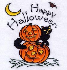 Happy Halloween! Applique - Jumbo | Halloween | Machine Embroidery Designs | SWAKembroidery.com Starbird Stock Designs