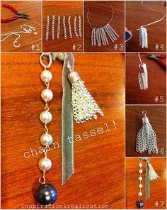 awesome DIY Bijoux - inspiration and realisation: DIY fashion blog: chain tassel