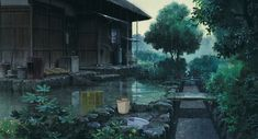 Illustration art film hayao miyazaki anime studio ghibli only yesterday Isao Takahata Animated films allstudioghibli Rain Wallpapers, Scenery Wallpaper, Wallpaper Aesthetic, Aesthetic Gif, Aesthetic Japan, Gifs, Rain Animation, Rock Indie, Gif Lindos