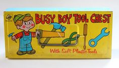Busy Boy Tool Chest Vintage Toy by Ohio Arts 1970s