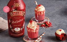 Diageo has launched a limited edition Baileys Irish cream liqueur infused with the flavour of red velvet cake in the US Alcohol Infused Cupcakes, Baileys Drinks, Red Velvet Flavor, Red Velvet Cupcakes, Mocha Cupcakes, Strawberry Cupcakes, Vanilla Cupcakes, Velvet Cake, Easter Cupcakes