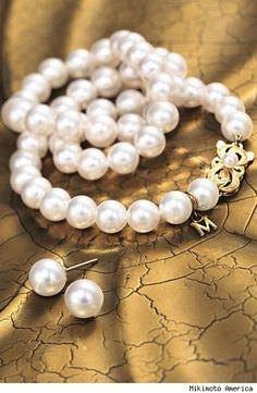 Mikimoto pearls. Simply beautiful.