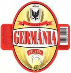 Cerveja Germânia Pilsen, estilo Standard American Lager, produzida por Cervejaria Germânia, Brasil. 3.5% ABV de álcool.