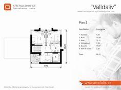 """Villa """"Valldaliv"""" planritning 2  Besök www.attefalls.se"""