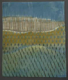 American, Catharine Ellis' woven shibori with natural dyes: works of art & textile pieces. See Blogroll for a link. | Decanted