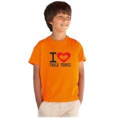 I love stolní tenis - Dětské tričko s tematikou o stolním tenisu f57f9b543a