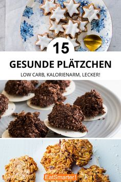 Gesunde Plätzchen: low carb, kalorienarm, lecker Healthy cookies can be just as delicious as classic ones. Our are low carb, low in calories and above all healthy cookies. Discover our recipe ideas for cookies. Easy Healthy Recipes, Healthy Desserts, Baby Food Recipes, Low Carb Recipes, Dessert Recipes, Cookie Recipes, Healthy Brownies, Healthy Cookies, Brownies Sains