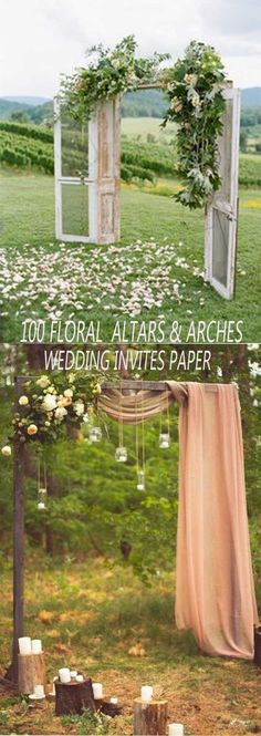 100 BEST FLORAL RUSTIC WEDDING ALTARS & ARCHES DECORATING IDEAS FOR 2018 SPRING WEDDING - Wedding Invites Paper #weddingdecoration #weddingideas